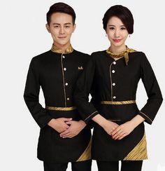 0 buy 1 product on alibaba restaurant uniforms Staff Uniforms, Work Uniforms, Waitress Outfit, Waiter Uniform, Hotel Uniform, Restaurant Uniforms, Uniform Design, Apron Designs, Fashion Design Drawings