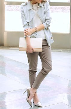 Spring/ Summer style: cool biz casual.  NY&CO pants // Moody Pastels| Penny Pincher Fashion