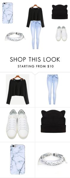"""""""Comfortable School Outfit"""" by cheetah-caroline on Polyvore featuring Glamorous, Yves Saint Laurent and West Coast Jewelry"""