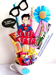 Brother Birthday, Candy Bouquet, Fathers Day Crafts, Ideas Para Fiestas, Bathroom Kids, Candy Gifts, Balloon Decorations, Gift Baskets, Diy Gifts