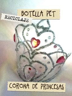 Corona de princesas de botella Pet reciclaje fácil recycled bottle princ...