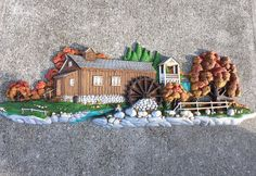 Vintage Burwood Homco Wall Plaque Mill Water Wheel Country Barn, Cabin, Hunte Excellent Cond, No Damage Country Chic, Clean, Nice Colletible by QUEENIESECLECTIC on Etsy