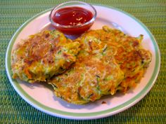 Veggie Pancakes on Weelicious...add onion