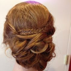 A beautiful simple prom updo