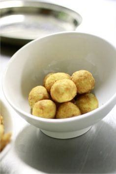 Truffle and Cheese Croquettes - La Mouette, Cape Town White Truffle, Truffle Oil, Best Cheese, Restaurant, Bread Crumbs, Melted Butter, Food For Thought, Truffles, Cape Town
