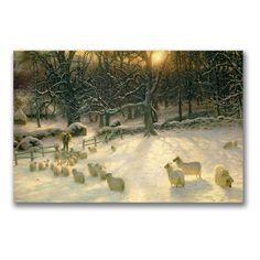 The Shortening Winter's Day Canvas Art by Joseph Farquharson