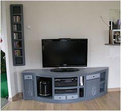 Jolie réalisation meuble TV http://www.meubles-carton-sur-mesure.com