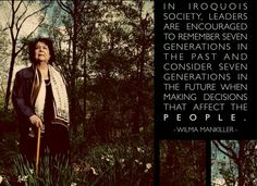 Frist female chief of the Cherokee Nation