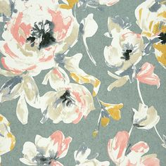 Casadeco - All Over Fleur Wallpaper - Yellow/Coral - AMG26822115