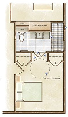 Handicapped Bathroom Layout Important For Just In Case Dream Home Pinterest Handicap
