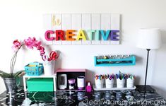 Be Creative Wood Wall Art | The perfect DIY wall art idea for your creative space!