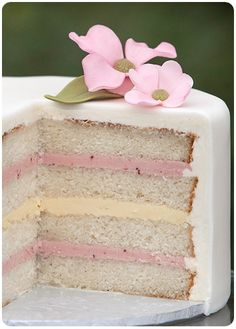 Layers of cake and filling