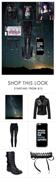 """""""Falling in reverse"""" by bucketoftragedies ❤ liked on Polyvore featuring Chicnova Fashion, WithChic, Casetify, Refresh, Fallon and Vans"""