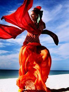 Glamour in orange
