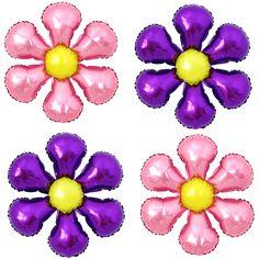 4X Birthday Babyshower Party Purple Pink Flower Blossom Foil Balloons Decoration #Joyparty #BirthdayChild