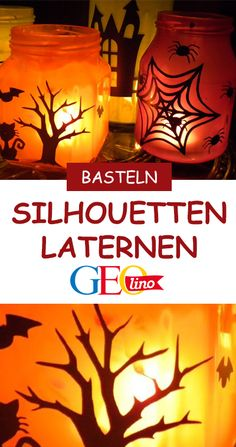 Halloween Deko basteln: Windlichter Halloween Deko basteln: Windlichter – [GEOLINO] More from my site You can get really crafty with the lawn decorations: 21 Creepy Halloween Makeup Ideas The Best Guide to Spooky Halloween Party Ideas Diy Halloween, Costume Halloween, Halloween Cupcakes, Halloween Night, Happy Halloween, Halloween Decorations, Halloween Lanterns, Disney Diy, Disney Crafts