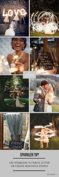 3 Sparkler Photo Ideas & Tips ❤ Keep reading for tips for perfect wedding sparker photos. See more: www.weddingforwar... #weddings #photography #weddings #wedding #marriage #weddingdress #weddinggown #ballgowns #ladies #woman #women #beautifuldress #newlyweds #proposal #shopping #engagement