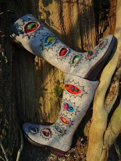 Felted boots.