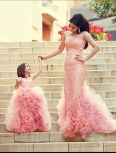 Mother and Daughter's Wedding Dress