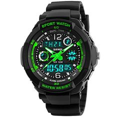 cool Viliysun Child Watch Multi Function Digital LED Sport Waterproof Electronic Quartz Watches for Boy Girls Kids Gift Green