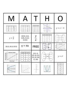 algebra graphing linear equations bingo game linear function equation and algebra. Black Bedroom Furniture Sets. Home Design Ideas
