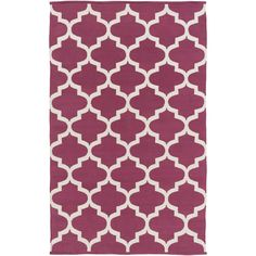 Surya Flatweave Hedon Moroccan Trellis Cotton Rug (3' x 5') (
