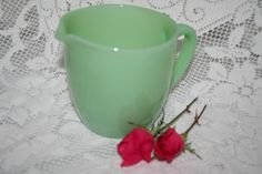 Fire King Jadeite Milk Pitcher, Gorgeous, FREE US SHIPPING, limited time by UdellLane on Etsy