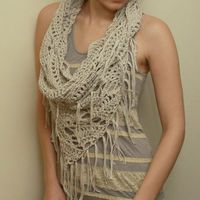 Triangle Cowl - Crochet Pattern PDF file
