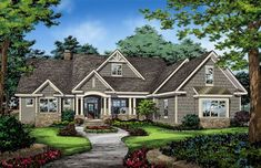 2494 sf Home Plan The Drake by Donald A. Gardner Architects