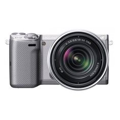 Sony NEX-5T NEX5TK/S Compact Interchangeable Lens Digital Camera with Sony E-Mount 18-55mm f/3.5-5.6 Zoom Lens (Silver) -- Check this awesome product by going to the link at the image. (This is an Amazon Affiliate link and I receive a commission for the sales)