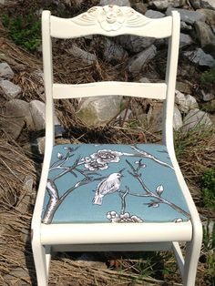 Vintage Upcycled Accent Chair by GypsyAlley on Etsy, $75.00