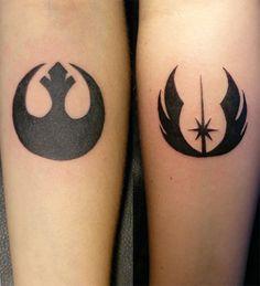 Rebel Alliance Tattoos On Legs