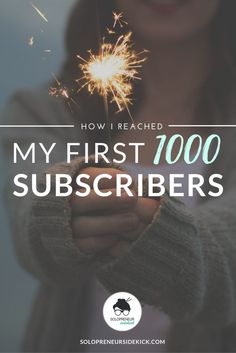 Woo hoo! I did it! Read How I Reached My First 1000 Subscribers. Includes developing more email opt-ins, Pinterest, a giveaway and more. Learn 6 ways you can get more email subscribers here: solopreneursidekick.com/blog/first-1000-subscribers