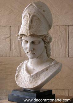 Busto de Atenea. (alt: 45cm) - Decorar con Arte