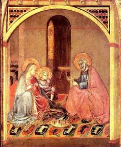 The Holy Family by Ambrogio Lorenzetti of Sienna (1345)