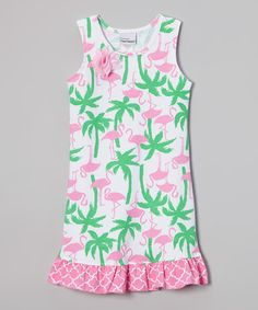 This Flamingo Fun A-Line Dress - Infant, Toddler & Girls by Flap Happy is perfect! #zulilyfinds