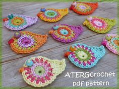 Crochet pattern bird by ATERGcrochet