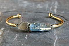 Crystal Bracelet - Crystal Cuff - Valentine's Day - Crystal Jewelry - Gold Bracelet - Silver Bracelet - Gemstone Bracelet - Gemstone Cuff