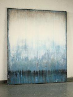 blue silence 2016  120 x 100 cm  Mischtechnik auf Leinwand Christian Hetzel