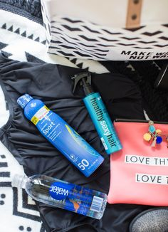8 Pool Bag Essentials by NC blogger Coffee Beans and Bobby Pins #ad #ApplyRepeatProtect