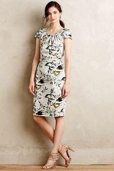 Samantha Sung Swallowtail Sheath Dress #anthrofave