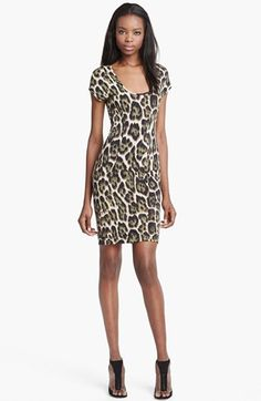 4a8f7a4f7ab59e Just Cavalli Leopard Print Jersey Dress available at  Nordstrom Dierenprints