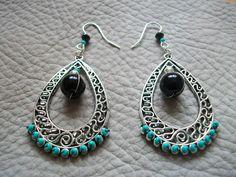 Boucles d'oreilles inca turquoise : Boucles d'oreille par zella