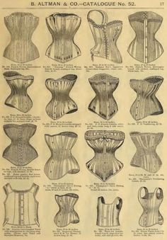 Collection of Corsets Vintage Advertisement