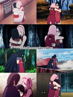 Boruto And Sarada, Sasuke Sakura Sarada, Naruto Shippuden Sasuke, Naruto Sad, Anime Naruto, Manga Anime, Boruto Next Generation, Naruto Couples, Boruto Naruto Next Generations
