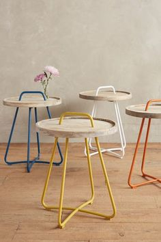 Threaded Button Side Table - anthropologie.com