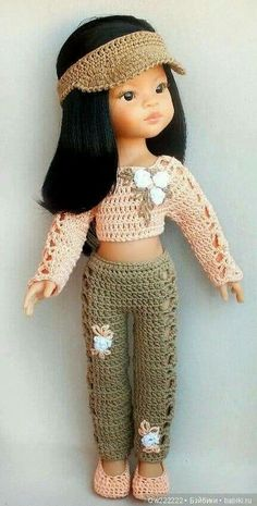 Trousers for clothes / Clothes for dolls / Shop. Sell to buy a doll / Babies. Clothes for dolls Crochet Doll Dress, Crochet Doll Clothes, Knitted Dolls, Doll Clothes Patterns, American Girl Crochet, Baby Dress, Trousers, Rag Doll Costumes, Vintage Crochet Patterns