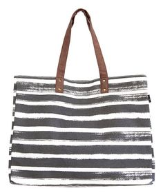 Love this Charcoal Stripes Carryall Tote on #zulily! #zulilyfinds
