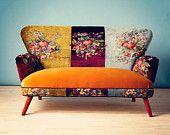 VELVET PATCH - chesterfield patchwork sofa., via Etsy.