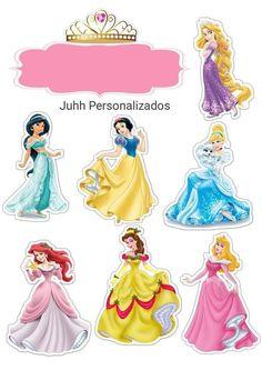 Disney Princess Crafts, Disney Princess Cupcakes, Princess Cupcake Toppers, Disney Princess Castle, Disney Princess Birthday, Disney Princess Pictures, Princess Party, Disney Cake Toppers, Birthday Cake Toppers
